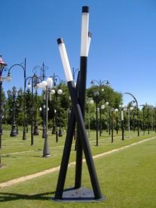 moderne lichtmasten  lantaarnpalen